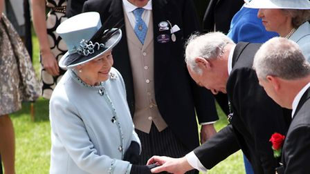 The Queen at one of her favourite events of the year