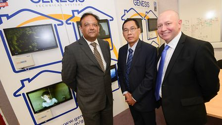 (left to right): Ajay Desai (Chamber), Ikmal Lukman (Director for Sectoral Promotion BKPM) and Nigel