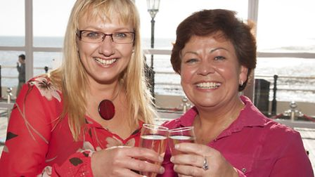 Vicky Vaughan with Sharon Clarke Worthing Town Centre Manager