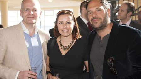 Darren Crabb and Debbie Stainer with Andy Sparsis