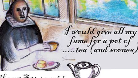'William Shakespeare Enjoys Tea on a Boat', by Tracy Spiers