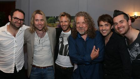 The Rick Parfitt Junior Band with Robert Plant (third from right)