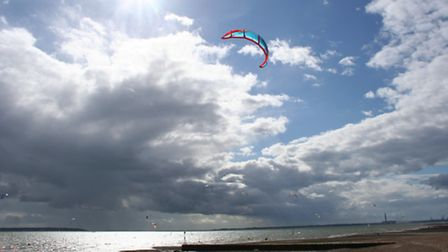 Hill Head beach is popular for watersports