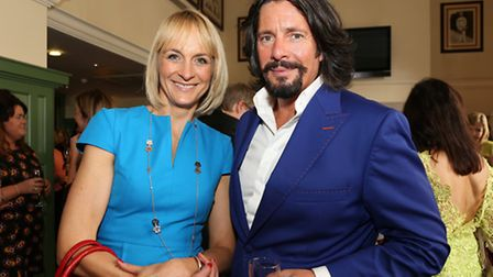 Louise Minchin and Laurence Llewelyn Bowen