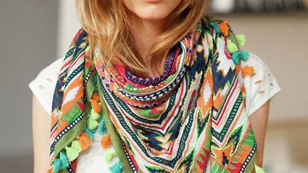 The perfect no-hassle, multi-tassel scarf, £35 from La Redoute