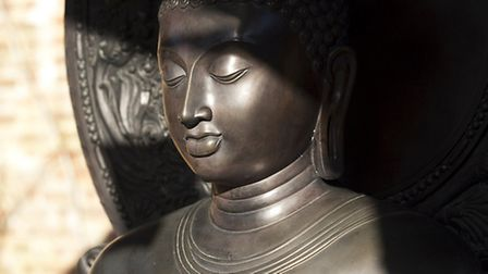 Statue of Buddha outside the temple