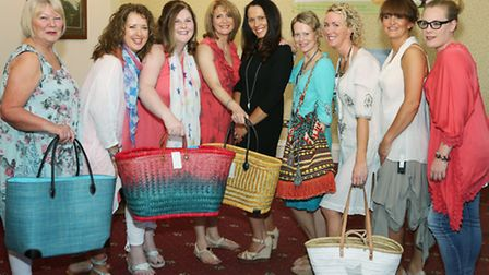 Fashion show models (from the left); Sheila Wallace, Heather Heaton, Michelle Keogh, Diane Sutton,