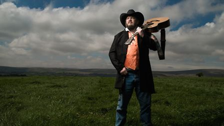 Si Ford, founder of Chagstock Music Festival, at the festival site. This year's theme is Wild West.