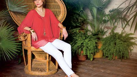Phase Eight white jeans, blouse and sandals