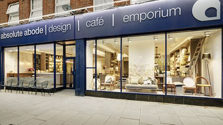 absolute abode in Raynes Park is a design service, cafe and emporium