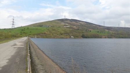 One of the four reservoirs this walk passes