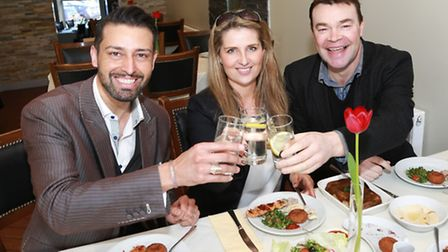 Armand is joined for lunch by Darren and Louise Proctor at Yara restaurant in Oxford Road