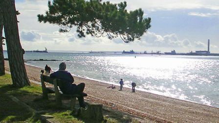 Royal Victoria Country Park overlooks Southampton Water