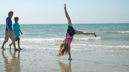 The beaches on Hayling Island offer fun for all the family.