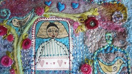 Textile piece by a member of Group Purple