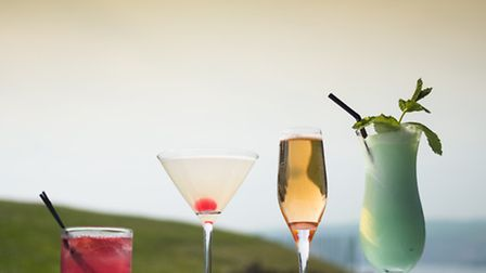 Vintage cocktails created by Gary 'McBar' Maguire at the Burgh Island hotel