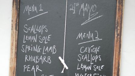 Noel's simple menu board epitomises the chef's approach - let great ingredients speak for themselves