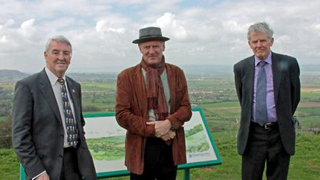 Chairman of CPRE Charlie Watson, Sir Andrew Motion, and Richard Lloyd of CPRE. Sir Andrew Motion add