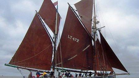 The 93yr old historic sailing trawler Excelsior