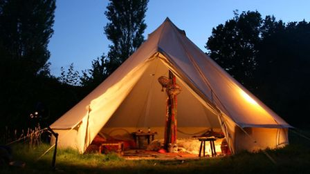 Glamp It Up - Bell tents have a beautifully elegant silhouette, and due to their design for use as m