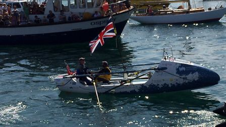 The rowers arrive at the Isles of Scilly