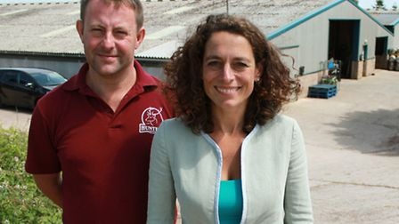 Alex Polizzi at Hunter's Brewery with owner Paul Walker.
