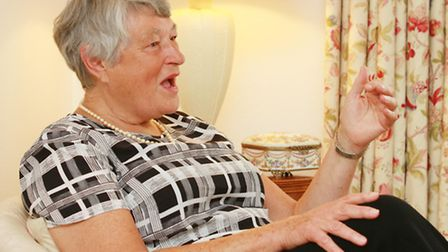 Dame Janet Trotter DBE Lord-Lieutenant of Gloucestershire during the interview at her home in Chelte