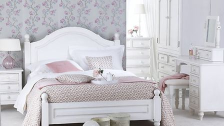 White painted furniture creates a serene look in bedrooms