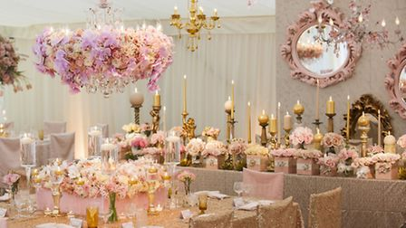 A wedding to remember: Pink tones played a big role in dress desginer Charlotte Balbiers big day