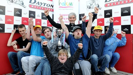 Damon and some of the young people helped by halow