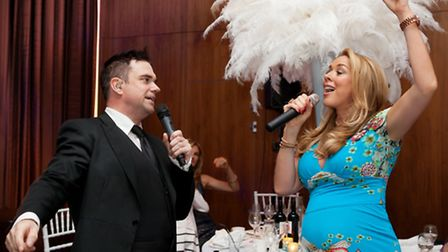 JK as Robbie with Claire Sweeney