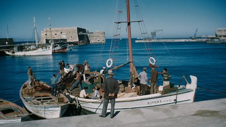 Fishing boats in Heraklion harbour, Crete, Greece, circa 1965. Pictures: Garry Hogg/Getty Images