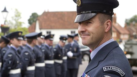 RAF Odiham personnel parade through Odiham village in support of Armed Forces Day. CREDIT - CPL JIMM