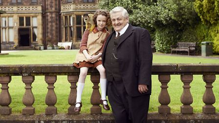 Honor Kneafsey at June and Peter Wight as her grandfather Albert Mottershead in Our Zoo