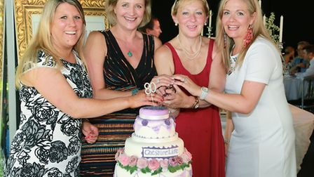 Cheshire Publisher, Rhiannon Wragg, with Sales Manager, Jackie Allen, Editor, Louise Taylor and Mark