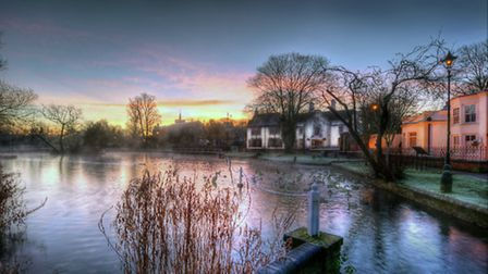 Frosty Dawn, Carshalton Ponds by Surrey Life reader Julian Heath