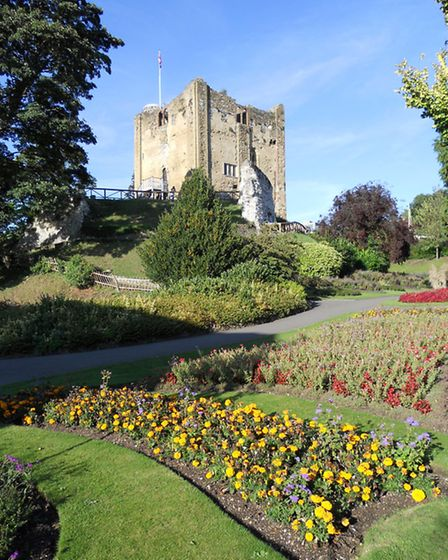 Guildford castle and its attractive grounds