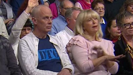 A Question Time audience member rolls his eyes as another says the country has 'had enough' of immig