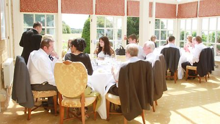 Guests sit down for lunch at The Wyck Hill House Hotel and Spa
