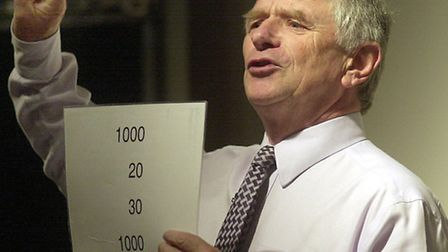 Johnny Ball making maths matter at the UEA at the weekend. Photo: Bill Smith