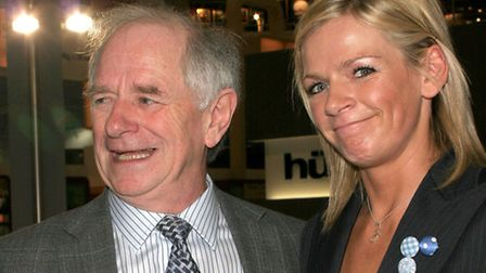 Zoe Ball with father Johnny Ball at the Ideal Homeshow 2006 which was held at Earl's Court in London