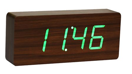 Click Clock alarm clock with LED display, £42.50, Cotswold Trading (www.cotswoldtrading.com)