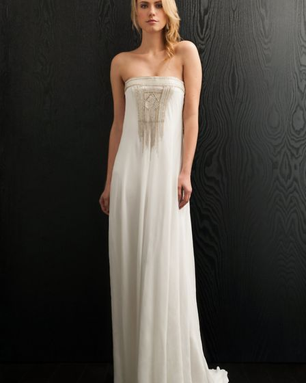 Ariadne by Amanda Wakeley would be perfect for a wedding on distant shores perhaps walking barefoot