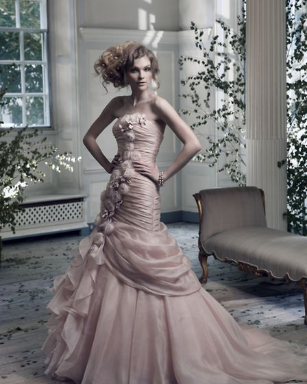 The trend for pastel coloured gowns is definitely growing and we can understand why when they are a