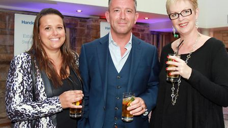 Lucy and Neil Shotton from Logical Utilities and Mandy Ackrill from Handelsbanken