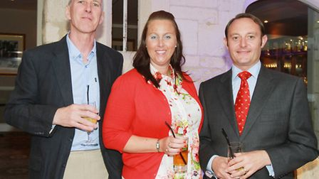 John Tooth from Paish Tooth, Kirsty Muir from Cotswold Life and Frank Smith from Willans