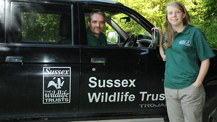 Rachel Knott, Prince's Countryside Fund 2014 with Mark Monk