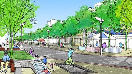 The tree-lined vision for Marlowe's shopping zone