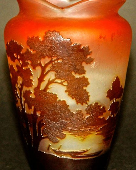 A Good Gall Glass Vase
