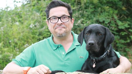 Comedian and Cotswold Life columnist Dom Joly with his dog Fitzgerald